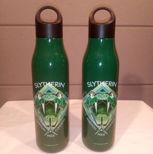 New! 2 Slytherin Metal Water Bottles 22 oz